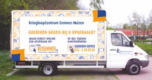 Ophaalservice KringloopCentrum Eemnes-Huizen vrachtwagen